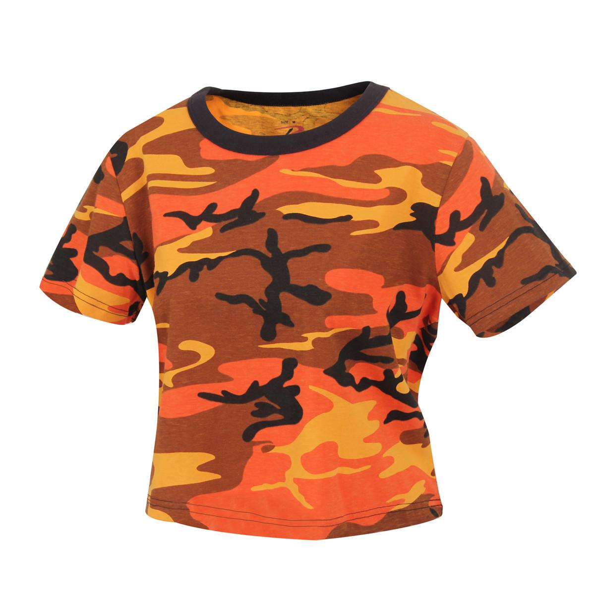 37e5331fa283c0 Shop Womens Crop Orange Camo T s - Fatigues Army Navy Gear