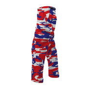 Red/White/Navy Camo BDU Fatigues Pants - Side View