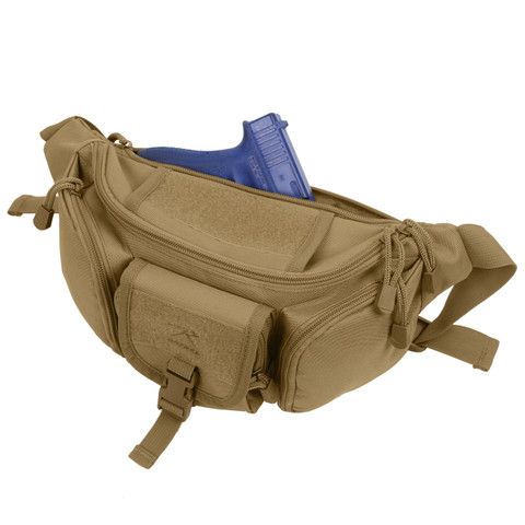 Coyote Brown Tactical Concealed Carry Waist Pack - View