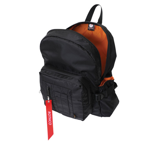 Black MA-1 Bomber Backpack - Open View