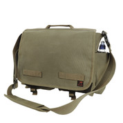 Olive Green Concealed Carry Messenger Bag - View