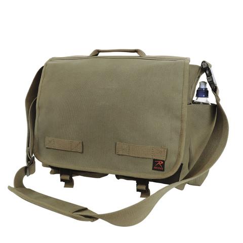 Olive Green Concealed Carry Messenger Bag - View