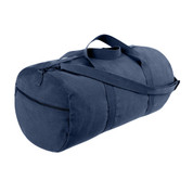 Navy Blue Canvas Sports Shoulder Bag - View