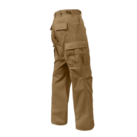 Relaxed Fit Zipper Coyote BDU Fatigue Pants - Side View