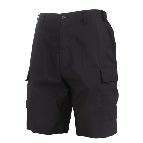 Lightweight Tactical Black BDU Short - View