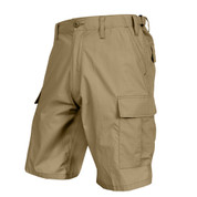 Lightweight Tactical Khaki BDU Short - Full View