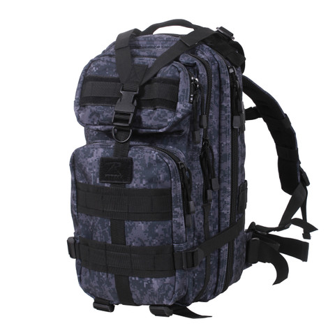 Kids Navy Midnight Digital Camo Backpack - View