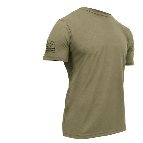 Tactical Athletic Fit T Shirt - AR 670-1 Coyote - View