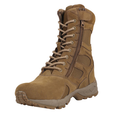 AR 670-1 Coyote Tactical Boots w/Side Zipper - View