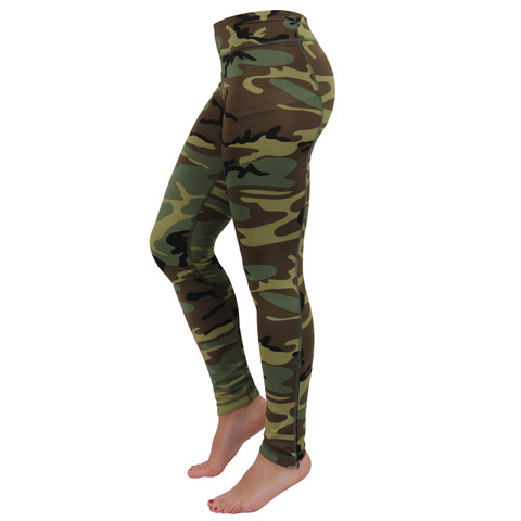 Womens Camo Workout Performance Leggings - View