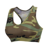 Womens Camo Performance Sports Bra - View
