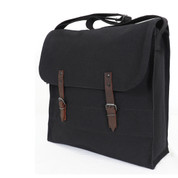 Black Jumbo Canvas Medic Bag - Strap View