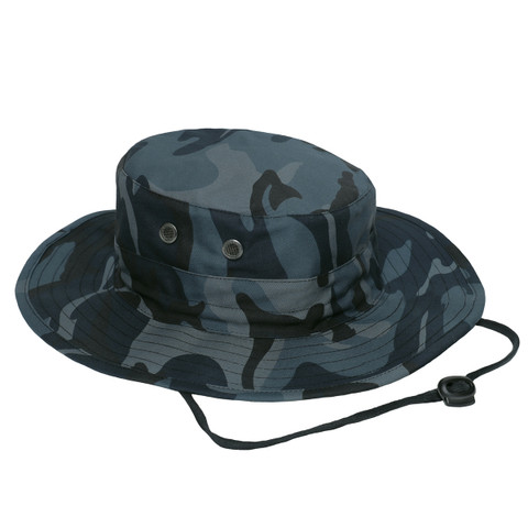 Midnight Camo Outdoor Adjustable Boonie Hat - View