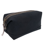 Classic Black Canvas Leather Travel Kit - View