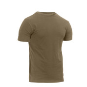 Athletic Fit Coyote Brown T Shirt - Side View