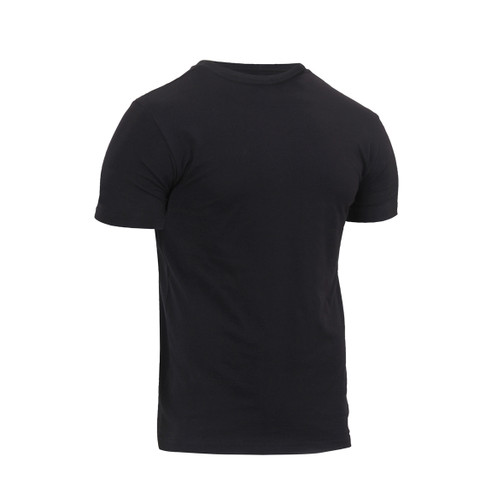 Athletic Fit Black T Shirt - Side View