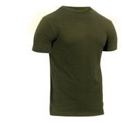 Athletic Fit Olive Drab T Shirt - Side View