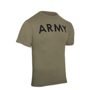 AR 670-1 Coyote Brown Army PT T Shirt - View