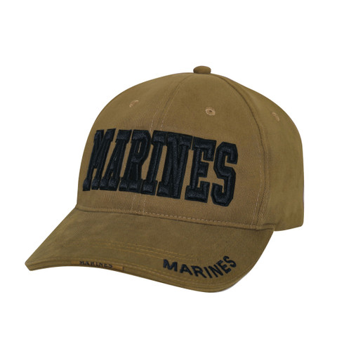 Deluxe Coyote Brown Marines Cap-Front View