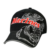 Deluxe Raised 3-D Marines Cap -  View