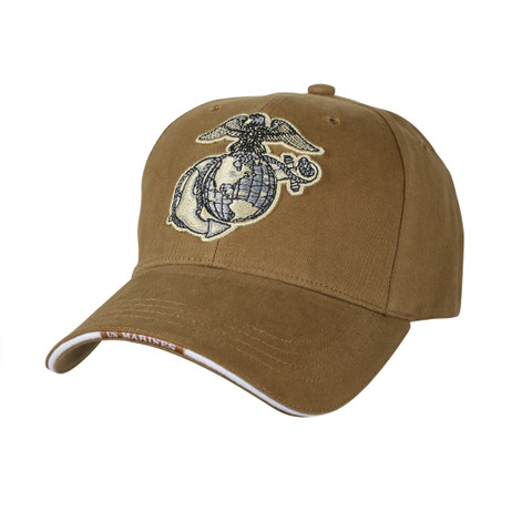 Deluxe Globe & Anchor Marine Cap- Side View