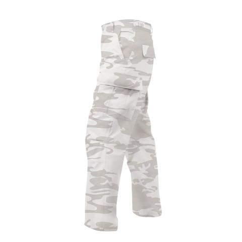 White Camo BDU Fatigues Pants - Side View
