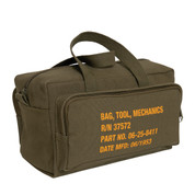 Mechanics Tool Bag w/Military Stencil Design - Handle View