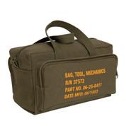 Mechanics Tool Bag w/Military Stencil Design - Handle View