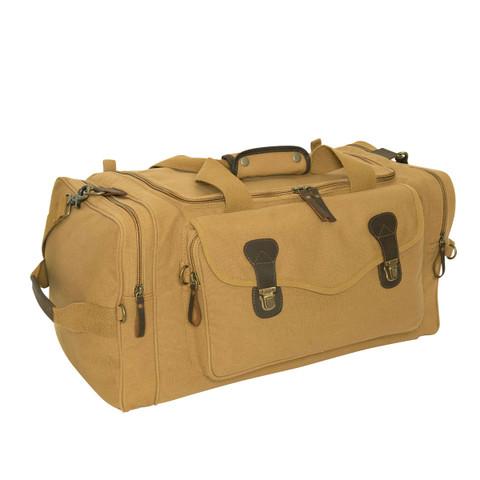 Classic Coyote Brown Canvas Weekenders Bag - View