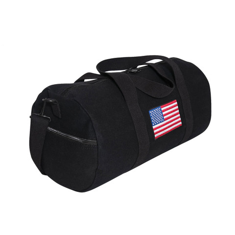 U.S. Flag Canvas Shoulder Duffle Bag - View