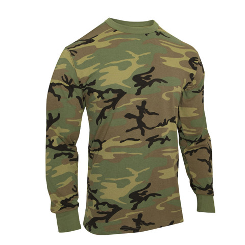 Vintage Camo Long Sleeve T Shirts - View