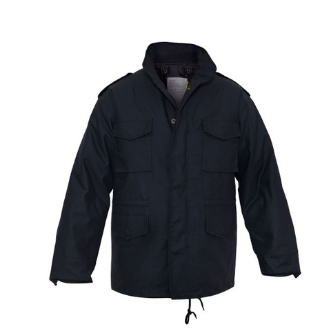 Midnight Navy Blue M-65 Field Jacket - Front View