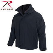 Midnight Navy All Weather 3 In 1 Jacket w/ Fleece Liner - Brand
