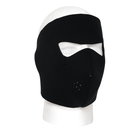 Black Cold Weather Neoprene Face Mask - View