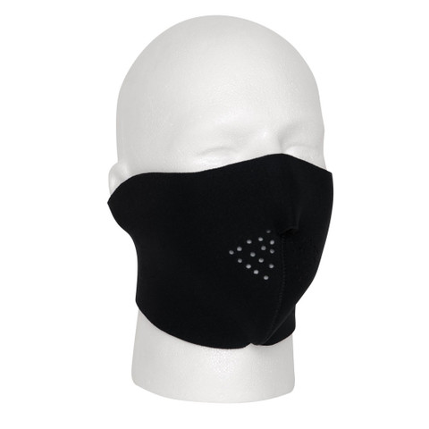Black Cold Weather Neoprene Half Face Mask - View