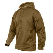Coyote Brown Concealed Carry Hoodie Pullover - Left Sid View