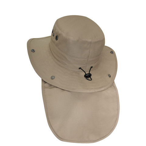Outback Adjustable Boonie Sun Hat - Sun Flap View