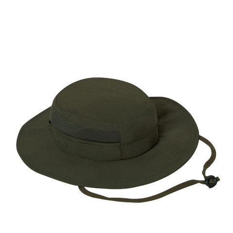 Lightweight OD Adjustable Travelers Mesh Boonie Hat - View
