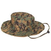 Woodland DigitalCamo Outdoor Adjustable Boonie Hat - View
