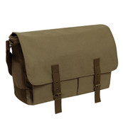 Deluxe Vintage Canvas Messenger Bag - Full View