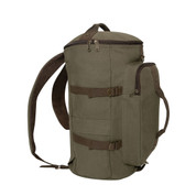 Touring Olive Drab Canvas Duffle Gear Backpack