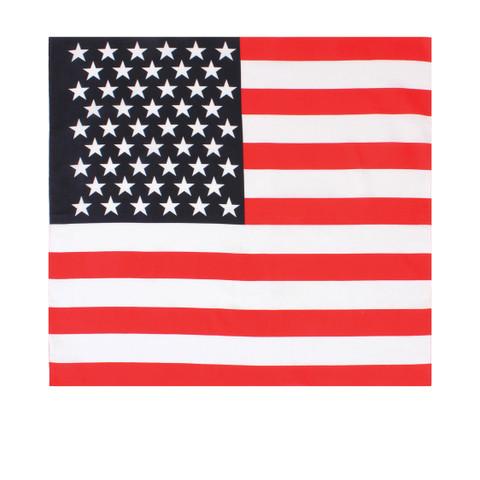 Jumbo Size US Flag Bandana - View