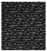 Black Mini Toy Guns Bandana - View