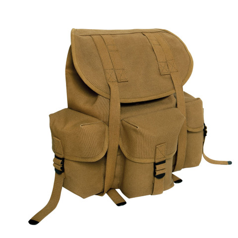 Coyote Canvas Mini Alice Backpack - Front View