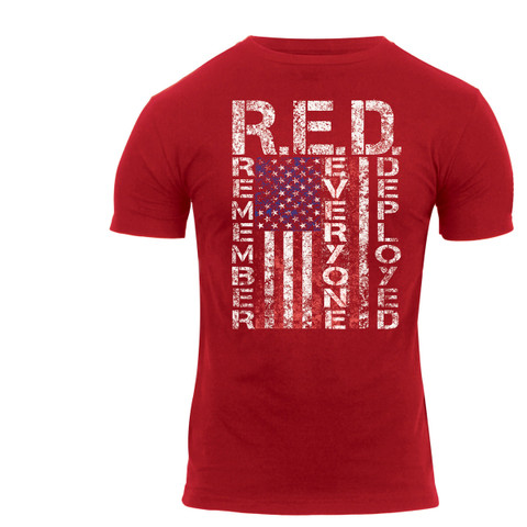 Athletic Fit Remember Everyone Deployed T Shirt - View