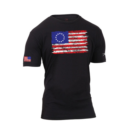 Colonial Betsy Ross Flag T Shirt - Side View
