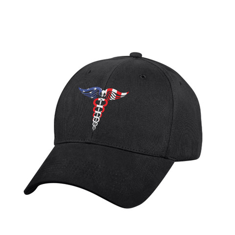 Medical Symbol (Caduceus)Low Profile Cap - View