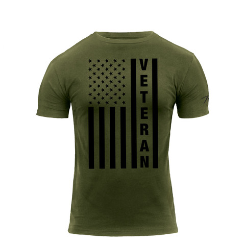 Veteran U.S.Flag T Shirt - Front View