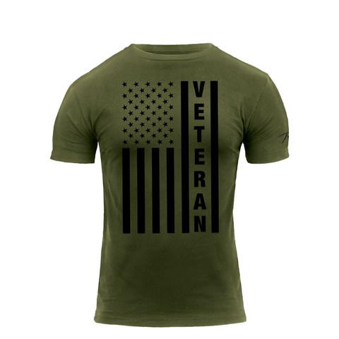 Veteran U.S.Flag T Shirt - Front View