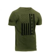 Veteran U.S.Flag T Shirt - Side View